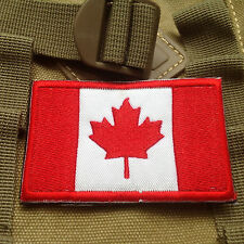 3D CANADA FLAG CANADIAN NATIONAL FLAG TACTICAL  ARMY MORALE Full Color PATCH