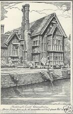 Huddington Court Droitwich Frederic Barribal drawing Gunpowder Plot Old Unposted