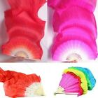 5 Colors Hand Made Belly Dance Dancing Silk Bamboo Long Fans Veils 1.8m MO