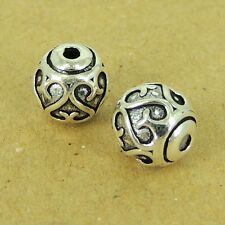 2 Pcs 925 Sterling Silver Love Heart Bead Vintage Celtic Jewelry Making WSP449X2
