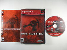 ¤ Red Faction ¤ Complete Good PlayStation 2 PS2
