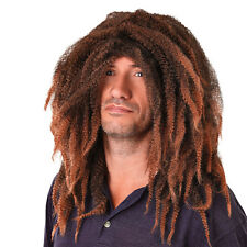 ADULT JAMAICAN BOB MARLEY DREADLOCKS BROWN WIG FANCY DRESS COSTUME ACCESSORY