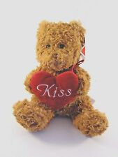 PLUSH BROWN TEDDY BEAR Kiss Toy Gift VALENTINES DAY CHRISTMAS DECORATION