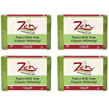 PAPAYA BODY LIGHTENING SOAP BY ZEN PERSONAL CARE PACK 4