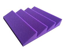 New 8 PCS Acoustic Wedge with 4T Studio Soundproofing Foam in Purple Color