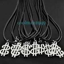 5pcs Cool silver dollar sign pendant necklace XL440