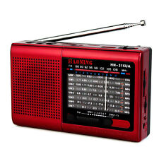 Portable High sensitivity FM/AM/SW1-7 Radio Receiver MP3 Rechargeable Battery ON