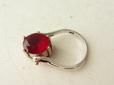 925 Sterling Silver Turkish Jewelry Ruby Sapphire Reversible Ring SZ 8.5