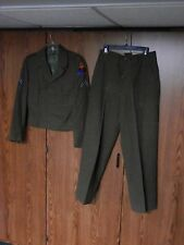 1ST ARMORED WW2 U.S. ARMY ENLISTED UNIFORM IKE WOOL JACKET TROUSERS SHIRT BELT