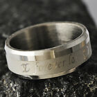 """""""Forever LOVE """"Men's Unisex White Gold Filled Band Ring SZ 8-11#A4208-A4211"""