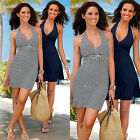 UK Womens Celeb Sexy Boho Short Mini Dress Ladies Summer Beach Party Sun Dress