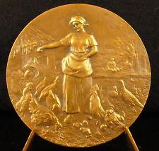 Médaille Cruce & Aratro Paysannerie Beauvais Elevage poules et coqs hens medal