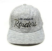 90S VTG LOS ANGELES RAIDERS HEATHER SCRIPT SPORTS SPECIALTIES SNAPBACK HAT NWA