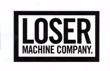 Loser Machine Large Gloss Print  Vinyl Logo Stickers Black White NEW