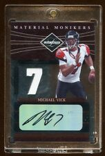2006 LIMITED MICHAEL VICK AUTO JERSEY #D 6/7 #PIECE MONIKERS TO PLAYERS JESREY #