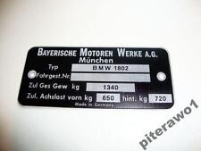 TYPENSCHILD BMW 1802