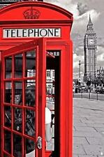 LONDON POSTER RED TELEPHONE BOX BIG BEN
