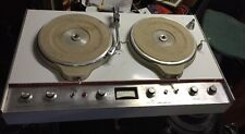 "Vintage Collins 808A-1 dual 3-speed pro audio 12""  DJ broadcast turntables 1960s"