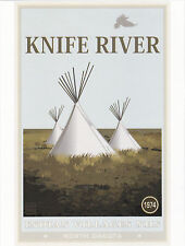 """*Postcard-""""Indian Tents @ Knife River"""" -Classic-"""