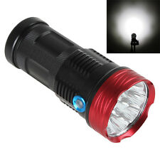 SKYRAY 10000LM 9 x CREE XM-L T6 LED 4 x 18650 Hunting Flashlight Tactical Torch
