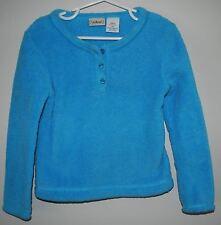 LL Bean Blue Plush Fuzzy Fleece Girls Size 4 Pullover Sweatshirt Top