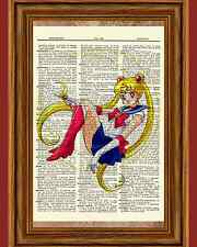 Sailor Moon Anime Dictionary Art Print Poster Picture Manga Book Character