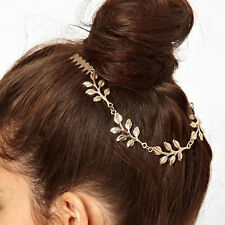 1 PC Gold Color Leaves Shape Comb Hair Accessories Headwear For Lady CA