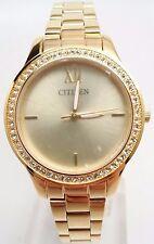 Citizen Womens Crystal-Accent Bracelet Watch EL3088-59P $240