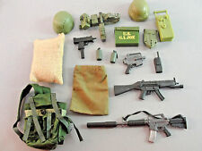 GI JOE 21ST CENTURY GEAR RIFLE WEAPON AMMO BOX BACKPACK GUN COMBAT HELMET LOT 23