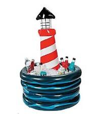 Unique Lighthouse Shaped Cooler Ice Chest Inflatable For Beach Luau Party