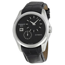 Tissot Couturier Automatic Black Dial Black Leather Mens Watch T0354281605100