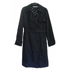TOMMY HILFIGER Classic Blue Navy Trench Coat Size XL