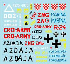 "Star Decal 1/35 #35906 Croatian Army 1991-95 #1 ""T-55A, M47 Pershing, M36B2"""
