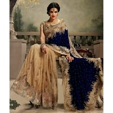 VEERAA PARTY WEAR  ETHNIC DESIGNER WEDDING VELVET & NET H/H BOLLYWOOD SAREE