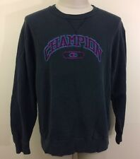 VTG 90s FADED Black Champion Men's Sweatshirt M/L Distressed Hip Hop Shirt USA