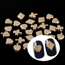 30pcs Mixed Poker Card Gold 3D Nail Art Decoration Resin Manicure Stickers DIY