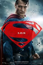 Batman V Superman Dawn Of Justice Original Affiche Du Film Double Face - Style D