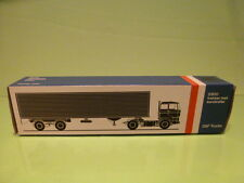 LION CAR 59 DAF TRUCKS 2800 + EUROTRAILER - 1:50 GOOD - * ONLY EMPTY BOX * (3)