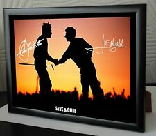 Seve & Ollie Ryder Cup Silhouette Framed Canvas Tribute Print Signed Great Gift