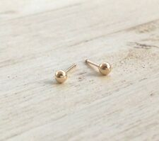 14k Yellow Gold Filled Stud Ball Earrings