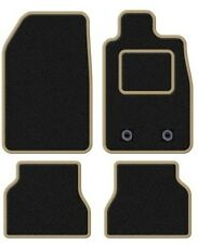 PEUGEOT 607 BLACK TAILORED CAR MATS WITH BEIGE TRIM