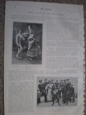 Printed photo Les Sousloffs child dancers Palace Theatre London 1903 W2