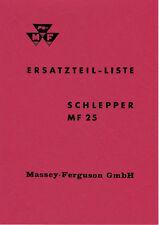 Ersatzteilliste Massey Ferguson  MF25 MF 25