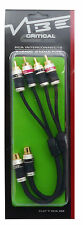 Vibe Audio FLAT Y RCA 2M 2 Female To 4 Male RCA Phono Plugs Splitter Leads Cable