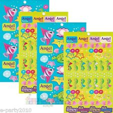 (4 sheets) UNDER THE SEA STICKERS ~ Birthday Party Supplies FAVORS SEAHORSE FISH