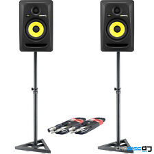 KRK Rokit 5 G3 RP5 Active Studio Monitors x 2, Includes Monitor Stands & Leads