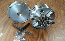 """8"""" 6-JAW SELF-CENTERING  LATHE CHUCK w. top&bottom jaws, w. 1-1/2""""-8 adapter-new"""