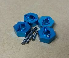 1/10 RC car M12 12mm Hex Alloy Wheel Nut Adaptors & Pins Blue