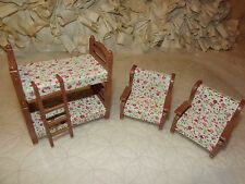 Calico Critters Bedroom Furniture bunkbeds w/ Matching Chair dollhouse furniture