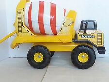 Tonka Large Cement Mixer Truck 2006 Red Stripes Barrel Construction Vehicle